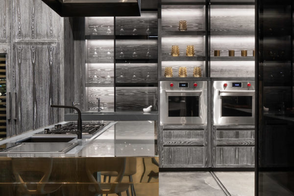 Display Kitchen Polished Brass Wolf Appliances
